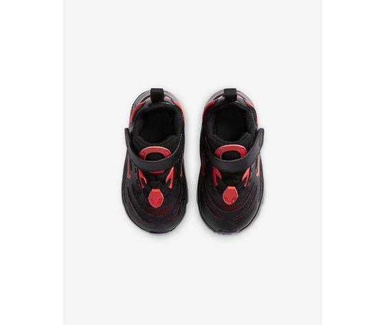 Scarpe bambino nike air max exosense nere con dettagli rossi art. cn7878 0012