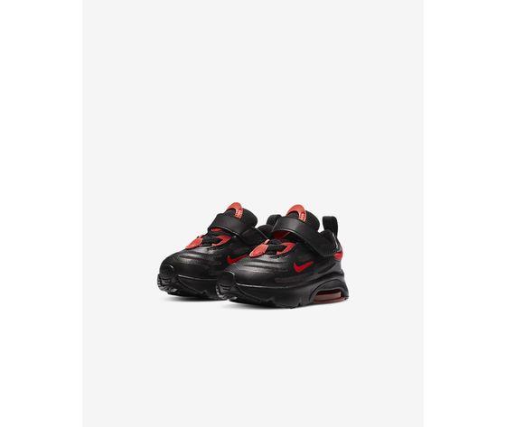 Scarpe bambino nike air max exosense nere con dettagli rossi art. cn7878 001 4