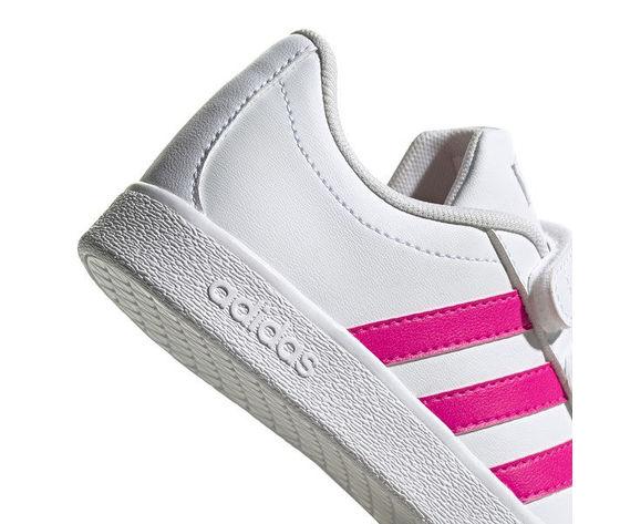 Scarpe bambina adidas originals grand court bianche e rosa con chiusura lacci e strappo art. eg3811 2