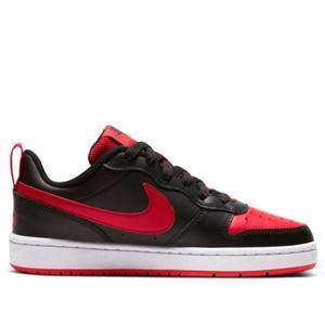 Scarpe Nike Court Borough GS Low Nero e Rosso Sneakers Basse Ragazzi art. BQ5448 007