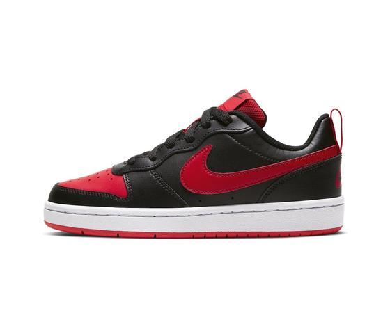 Scarpe nike court borough gs low nero e rosso sneakers basse ragazzi art. bq5448 007 2