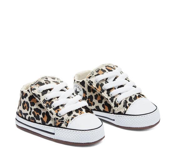 Scarpette da neonati converse leopard in tela con chiusura a strappo art. 870415c 2