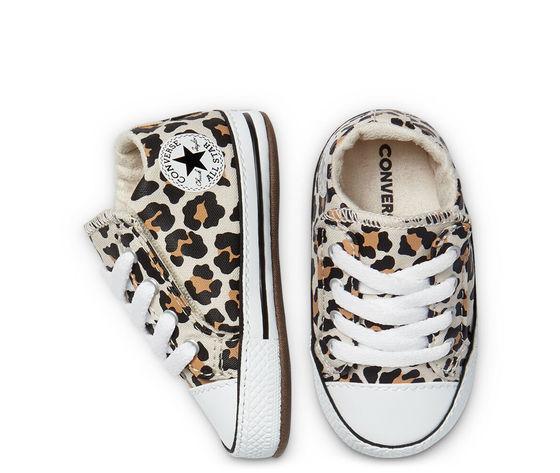 Scarpette da neonati converse leopard in tela con chiusura a strappo art. 870415c4