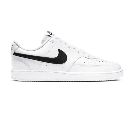 Scarpe uomo nike court vision low bianche sneakers basse pelle art. cd5463 101