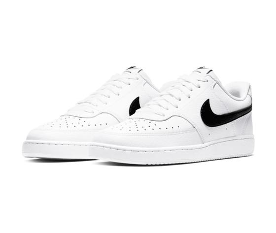 Scarpe uomo nike court vision low bianche sneakers basse pelle art. cd5463 101 3