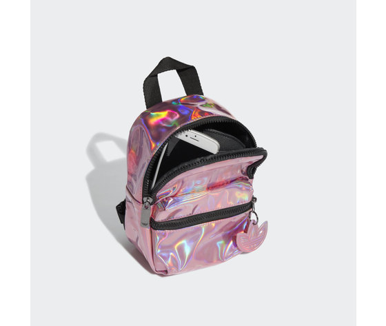 Adidas mini zaino rosa iridescente trefoil art. gn2128 3