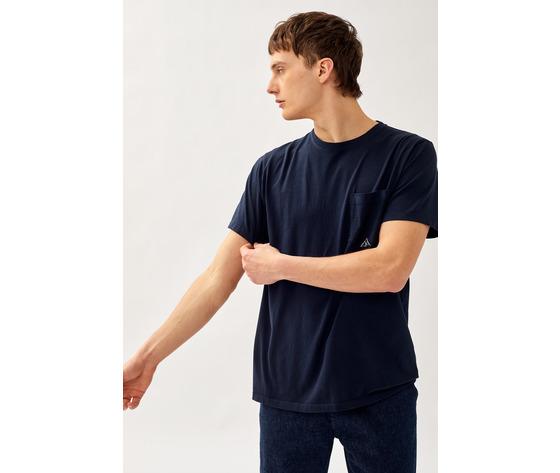T shirt uomo roy roger's blu girocollo con taschino cotone jersey art. p21rru500c9320306 b 2