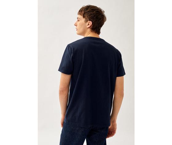 T shirt uomo roy roger's blu girocollo con taschino cotone jersey art. p21rru500c9320306 b 3