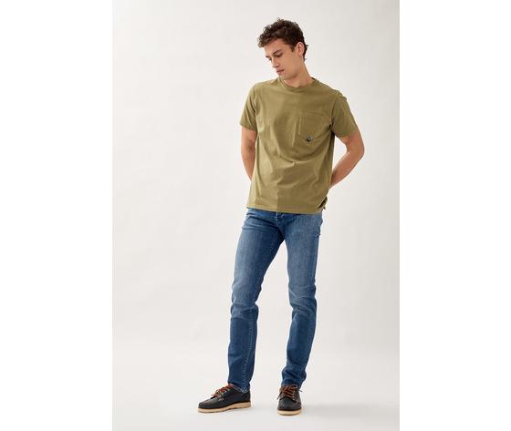 T shirt uomo roy roger's verde army green girocollo con taschino cotone jersey art. p21rru500c9320306 v 1