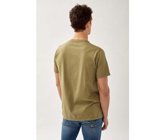 T shirt uomo roy roger's verde army green girocollo con taschino cotone jersey art. p21rru500c9320306 v 3