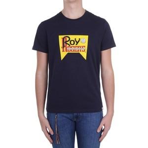 T-Shirt Unisex Roy Roger's Vintage Blu Girocollo Stampa Roy Cotone Regular Fit art. P21RRX519C9300569 B
