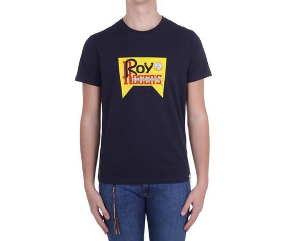 T shirt unisex roy roger's vintage blu girocollo stampa roy cotone regular fit art. p21rrx519c9300569 b 4