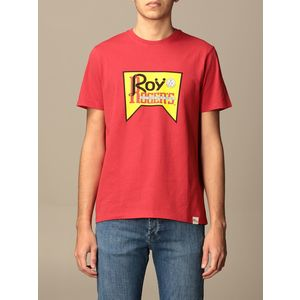 T-Shirt Unisex Roy Roger's Vintage Rossa Girocollo Stampa Roy Cotone Regular Fit art. P21RRX519C9300569 R