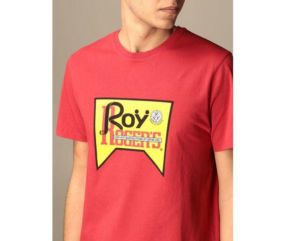 T shirt unisex roy roger's vintage rossa girocollo stampa roy cotone regular fit art. p21rrx519c9300569 r 2