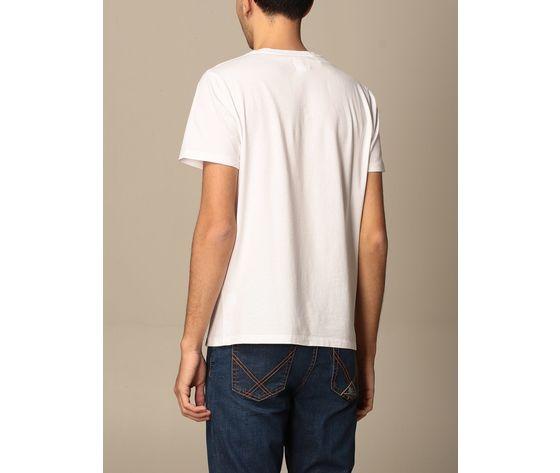 T shirt unisex roy roger's vintage bianca girocollo stampa roy cotone regular fit art. p21rrx519c9300569 bi 1
