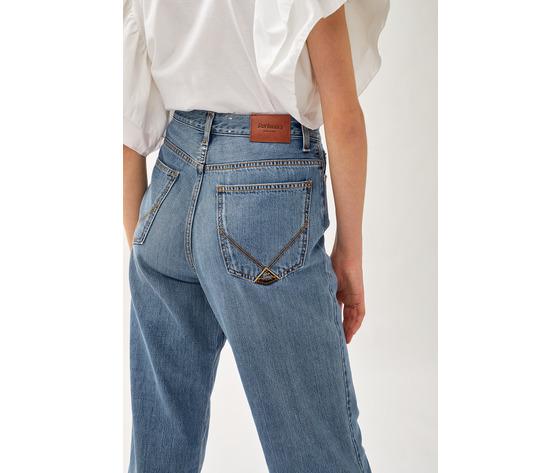 Jeans donna roy roger's rita cropped clintha fibre naturali art. p21rnd043d4271707 1