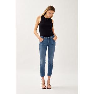 Jeans Donna Roy Roger's Elionor Noosa In Denim Super Stretch Lavaggio Medio art. P21RND010D3641745