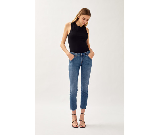 Jeans donna roy roger's elionor noosa in denim super stretch lavaggio medio art. p21rnd010d3641745