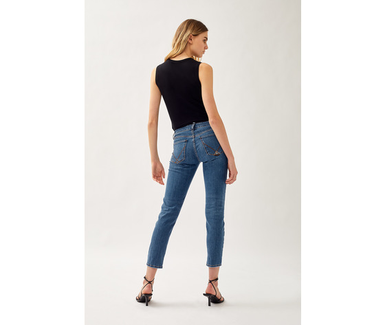 Jeans donna roy roger's elionor noosa in denim super stretch lavaggio medio art. p21rnd010d3641745 1