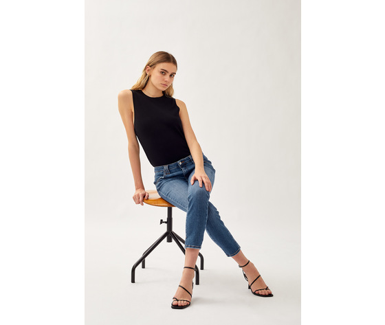 Jeans donna roy roger's elionor noosa in denim super stretch lavaggio medio art. p21rnd010d3641745 3