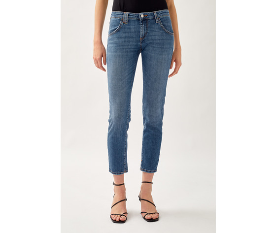 Jeans donna roy roger's elionor noosa in denim super stretch lavaggio medio art. p21rnd010d3641745 4