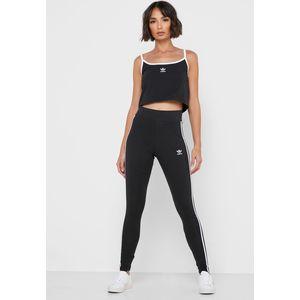Leggings Adidas nero 3 strisce bianche abbigliamento donna art. FM3287