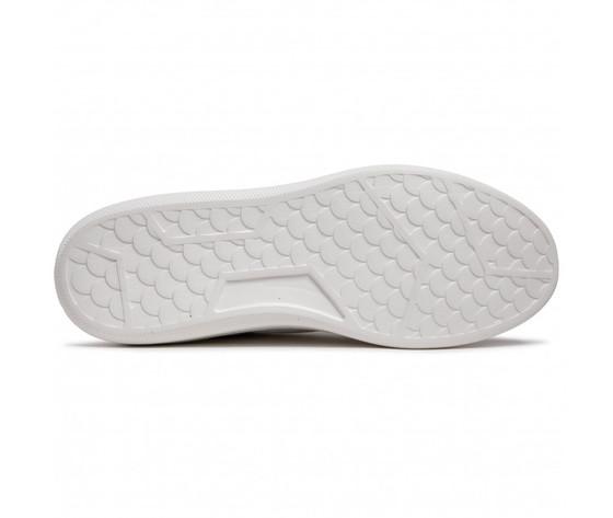 Scarpe uomo bianche dettagli blu wrangler davis basket sneakers white navy art. wm11021a w0257 3