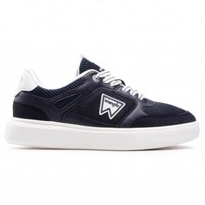 Scarpe Uomo Blu Dettagli Bianchi Wrangler Davis Basket Sneakers Navy White art. WM11021A W0345