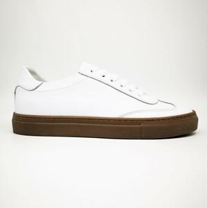 Sneakers Bianco Basse Fondo Ambra Gum Uomo in Vera Pelle Essential Colbaffo® art. 2019 BA
