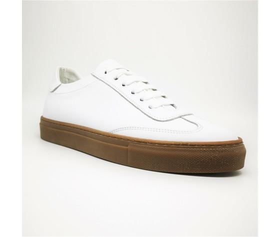 Sneakers bianco basse fondo ambra gum uomo in vera pelle essential colbaffo%c2%ae art. 2019 ba %281%29