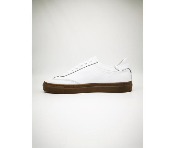 Sneakers bianco basse fondo ambra gum uomo in vera pelle essential colbaffo%c2%ae art. 2019 ba %284%29