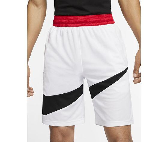 Pantaloncini nike bianchi logo nero dri fit hbr m art. bv9385 100