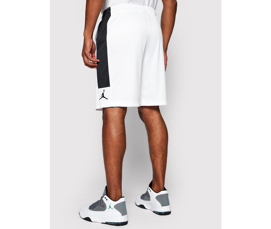Pantaloncini jordan dry knit short bianchi banda laterale nera art. cd5064 100 2