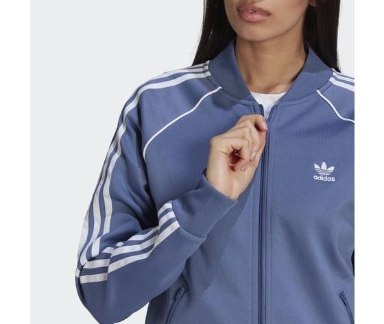 Giacca track donna blu adidas originals primeblue sst art. gn2939 3