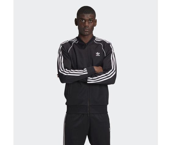 Giacca track uomo nera bianca adidas originals adicolor classics primeblue sst art. gf0198