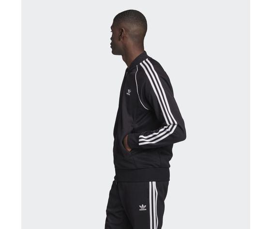 Giacca track uomo nera bianca adidas originals adicolor classics primeblue sst art. gf0198 1