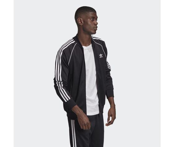 Giacca track uomo nera bianca adidas originals adicolor classics primeblue sst art. gf0198 3