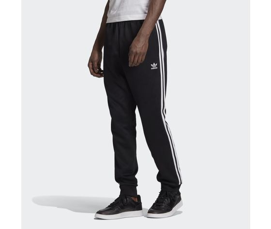 Pantalone track nero e bianco adidas originals adicolor classics primeblue sst art. gf0210