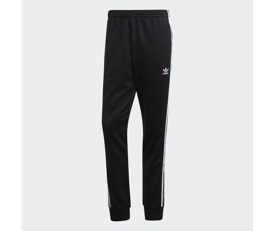Pantalone track nero e bianco adidas originals adicolor classics primeblue sst art. gf0210 4