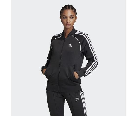 Giacca track donna nera e bianca adidas originals adicolor classics primeblue sst art. gd2374
