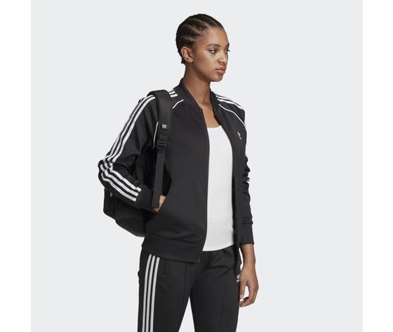 Giacca track donna nera e bianca adidas originals adicolor classics primeblue sst art. gd2374 3