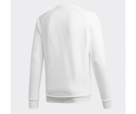 Felpa uomo bianca adidas originals loungewear trefoil essentials crewneck art. ed6208 1