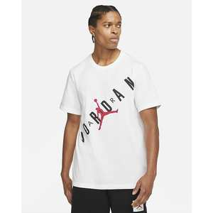 T-Shirt Uomo Bianca Girocollo Jordan Hbr Stretch Crew Tee Logo Frontale art. DA1894 100