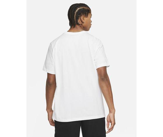 T shirt bianca girocollo jordan hbr stretch crew tee logo frontale art. da1894 100 1