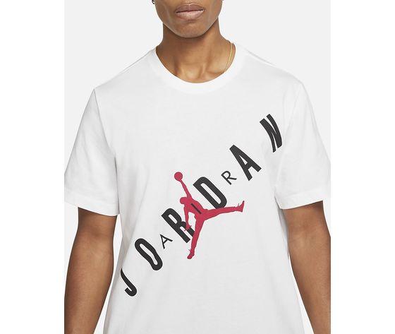 T shirt bianca girocollo jordan hbr stretch crew tee logo frontale art. da1894 100 2