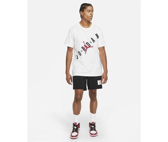 T shirt bianca girocollo jordan hbr stretch crew tee logo frontale art. da1894 100 3