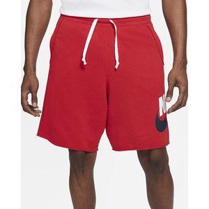 Bermuda Nike Rosso in Felpa French Terry Taglio Vivo  Logo Nike bianco blu art. AR2375 659