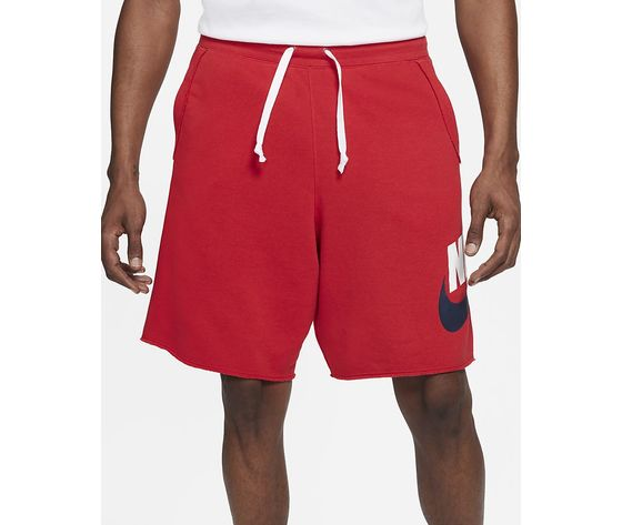 Pantaloncino uomo rosso nike shorts in french terry nike sportswear alumni art. ar2375 659