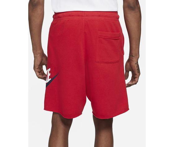 Pantaloncino uomo rosso nike shorts in french terry nike sportswear alumni art. ar2375 659 1