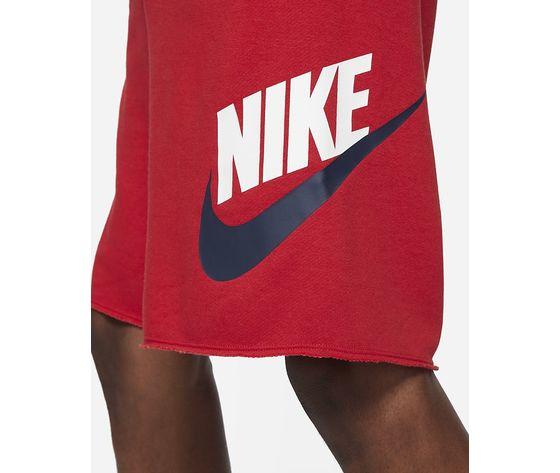 Pantaloncino uomo rosso nike shorts in french terry nike sportswear alumni art. ar2375 659 3